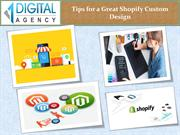 Tips for a Great Shopify Custom Design