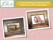 A 1 Year Wedding Anniversary Gift That'll Leave Them Breathless