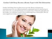 Gordan Caleb Barge Become a Beauty Expert with This Information