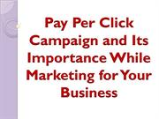 Pay Per Click Campaign and Its Importance While Marketing for Your Bus