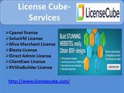 license cube services