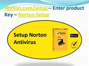Norton.com/setup – Enter product Key – Norton Setup