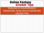 England vs India Dream11 Prediction