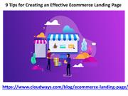 9 Tips for Creating an Effective Ecommerce Landing Page