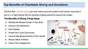 Top Benefits of Charitable Giving and Donations