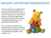 Coco Gifts - One Stop Shop for Amazing Gifts