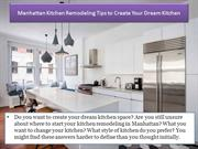 Manhattan Kitchen Remodeling Tips to Create Your Dream Kitchen