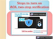How to Turn on AOL two-step verification