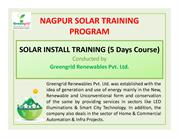 NAGPUR SOLAR TRAINING PROGRAM