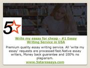 Write my essay for cheap - #1 Essay Writing Service in USA