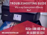 Fix Canon Printer Offline on Mac Issues | Call +1 888-480-0288