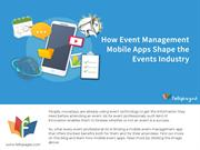 How Event Management Mobile Apps Shape the Events Industry