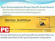 Does Norton Antivirus Protect Your Pc From Viruses?