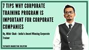 7 TIPS WHY CORPORATE TRAINING PROGRAM IS IMPORTANT FOR CORPORATE COMPA