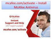 Navigate to the folder in which McAfee installer file is downloaded