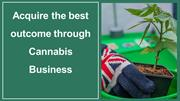 Acquire the best outcome through Cannabis Business
