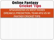 Afghanistan vs West Indies Dream11 Prediction