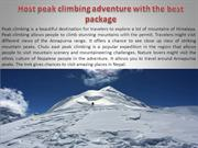 Host peak climbing adventure with the best package
