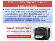 Canon Printer Support Number + 1-855-536-5666