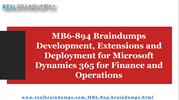 2019 Latest Microsoft Dynamics 365 MB6-894 Braindumps