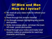Of Mice & Men Revision