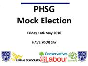 Mock Election 2010