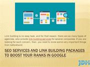 SEO services and Link Building Packages to Boost Your Ranks in Google