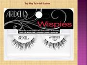 Top Way To Ardell Lashes