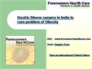 Gastric Sleeve surgery in India to cure