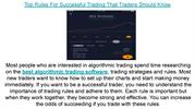 Top Rules For Successful Trading That Traders Should Know