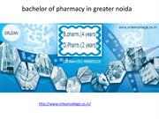bachelor of pharmacy in greater noida