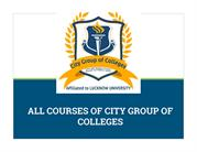 City Group of Colleges Courses