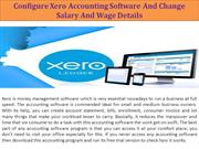 Configure Xero Accounting Software And Change Salary And Wage Details