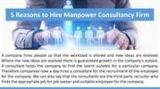 5 Reasons to Hire Manpower Consultancy Firm