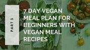 7 Day Vegan Meal Plan For Beginners With Vegan Meal Recipes - Part 3