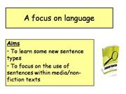 A focus on language