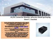 Order AC/DC Converter Module at Favotek - Call Us