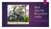 Best Electric Bicycle in India - Svitch