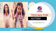 Testing for Autism | Best Autism Centres in Bangalore | CAPAAR