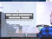 Model Based Requirements Engineering Training Course