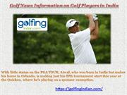 Golf News Information on Golf Players in India