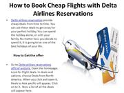 How to Book Cheap Flights with delta airlines reservations