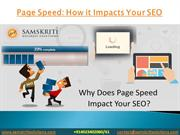 How The Page Speed Impacts Your SEO