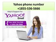 Yahoo Helpline number +1-855-536-5666