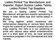 Export Surplus Ladies Tshirts