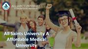 All Saints University A Affordable Medical University