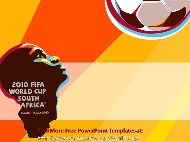 Free world cup powerpoint template authorstream toneelgroepblik Choice Image