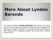 Read Facts About Lyndon Barends Social Work