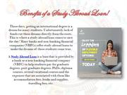 Benefits of a Study Abroad Loan!