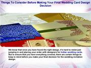 THINGS TO CONSIDER BEFORE MAKING YOUR FINAL WEDDING CARD DESIGN DECISI